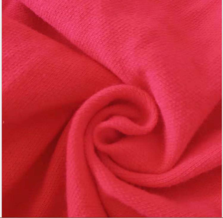 厂家直销  现货供应  190g精棉拉架珠地 针织T恤服装用布 全棉拉架珠地