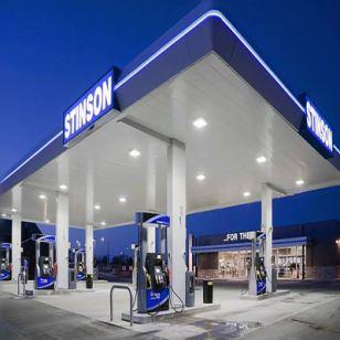 中海加油站圆角铝包柱图片