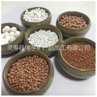 厂家供应麦饭石陶瓷球 碱性球 白色电气石球 净水滤料填充 量大优惠