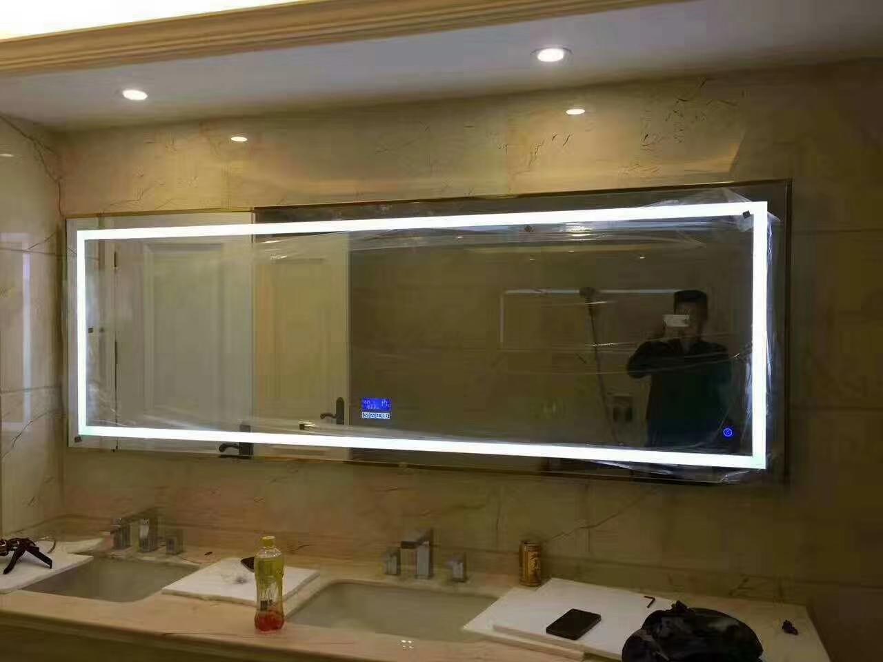 厂家直销浴室镜防雾带灯除雾多功能镜子 led智能镜 防雾浴室镜 防雾led浴室镜