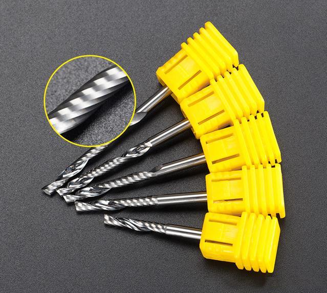 进口单刃铣刀 高光铣削 雕刻机刀具 不烧刀不断刀