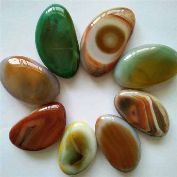 玛瑙石 玛瑙雨花石 七彩色石头 不规则 玛瑙碎石 消磁石 DIY手工
