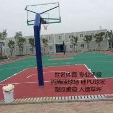 PU塑胶篮球场地面施工企业哪家好?〓世名体育质保两年〓包工包料〓图片