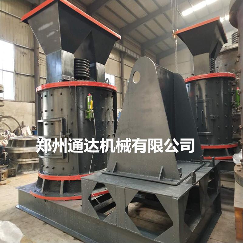 板锤制砂机时产50 80 100吨立式板锤粉碎机鹅卵石制沙机