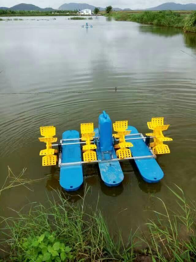 鱼塘水面增氧机水车式增氧机2200W浮船增氧机 水车增氧机-08