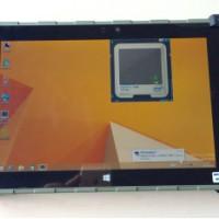 10寸win系统便携式半加固内置RJ45网口北斗双模带串口行业平板电脑