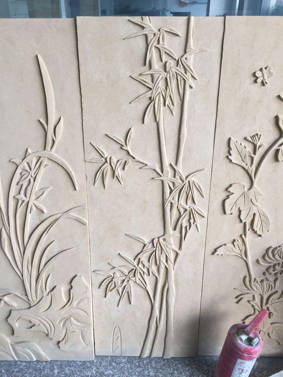 竹子浮雕报价 人造砂岩浮雕雕刻厂家