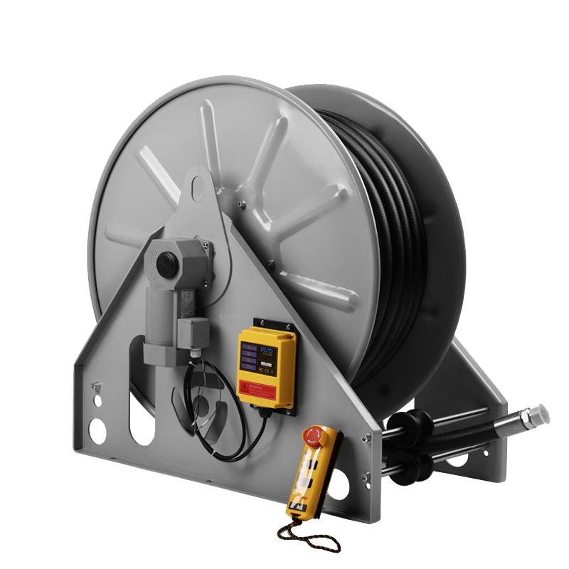 电动遥控加油卷盘 加油机卷盘 1寸加油管卷盘 50米遥控卷盘 油管卷盘 电动遥控加油卷管器