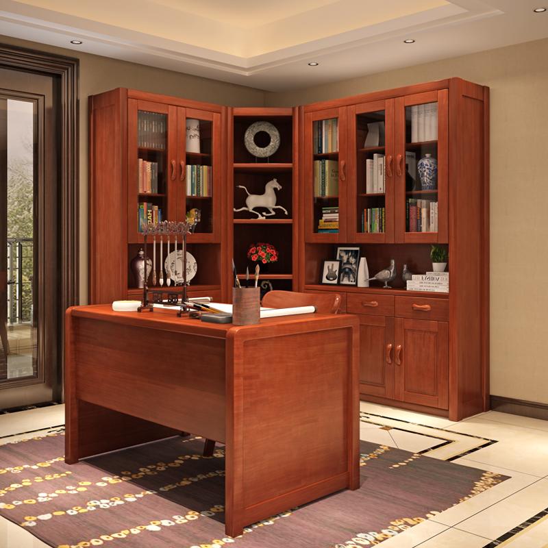 实木书柜价格 储物柜中式书架批发 原木简约现代柜子厂家