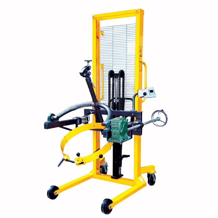 手动带称重油桶车,多功能液压油桶搬运车 可升高翻转