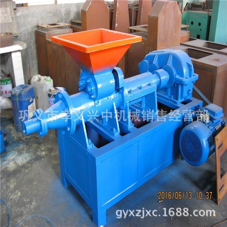 煤粉制棒机 小型木炭粉制棒生产线 稻壳炭棒挤出机 机制木炭成型设备