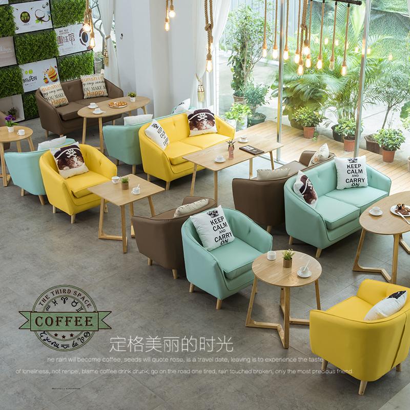 异形沙发咖啡厅奶茶店甜品店卡座网咖酒吧洽谈接待休闲皮沙发 异形沙发洽谈接待休闲公寓皮沙发