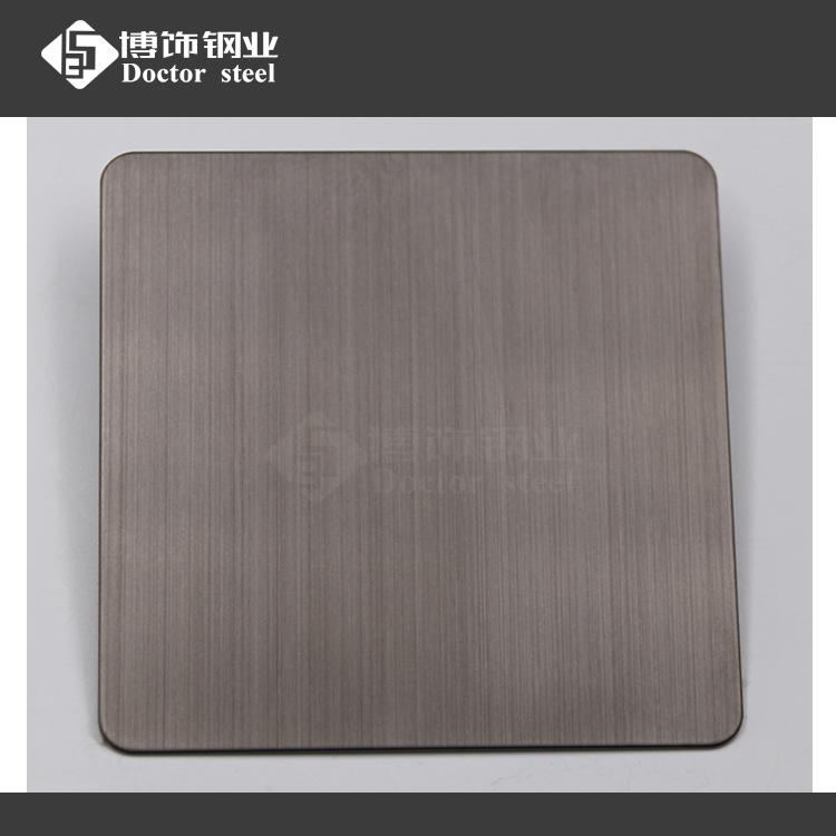 201拉丝黑钛抗指纹不锈钢板 颜色深浅可以调节