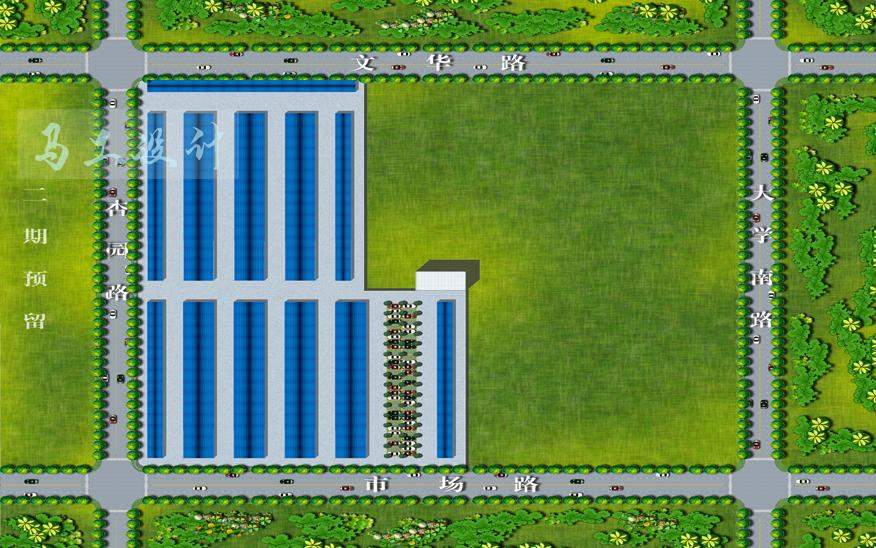 厂房规划图设计 厂房3d效果图设计 厂房CAD施工图设计