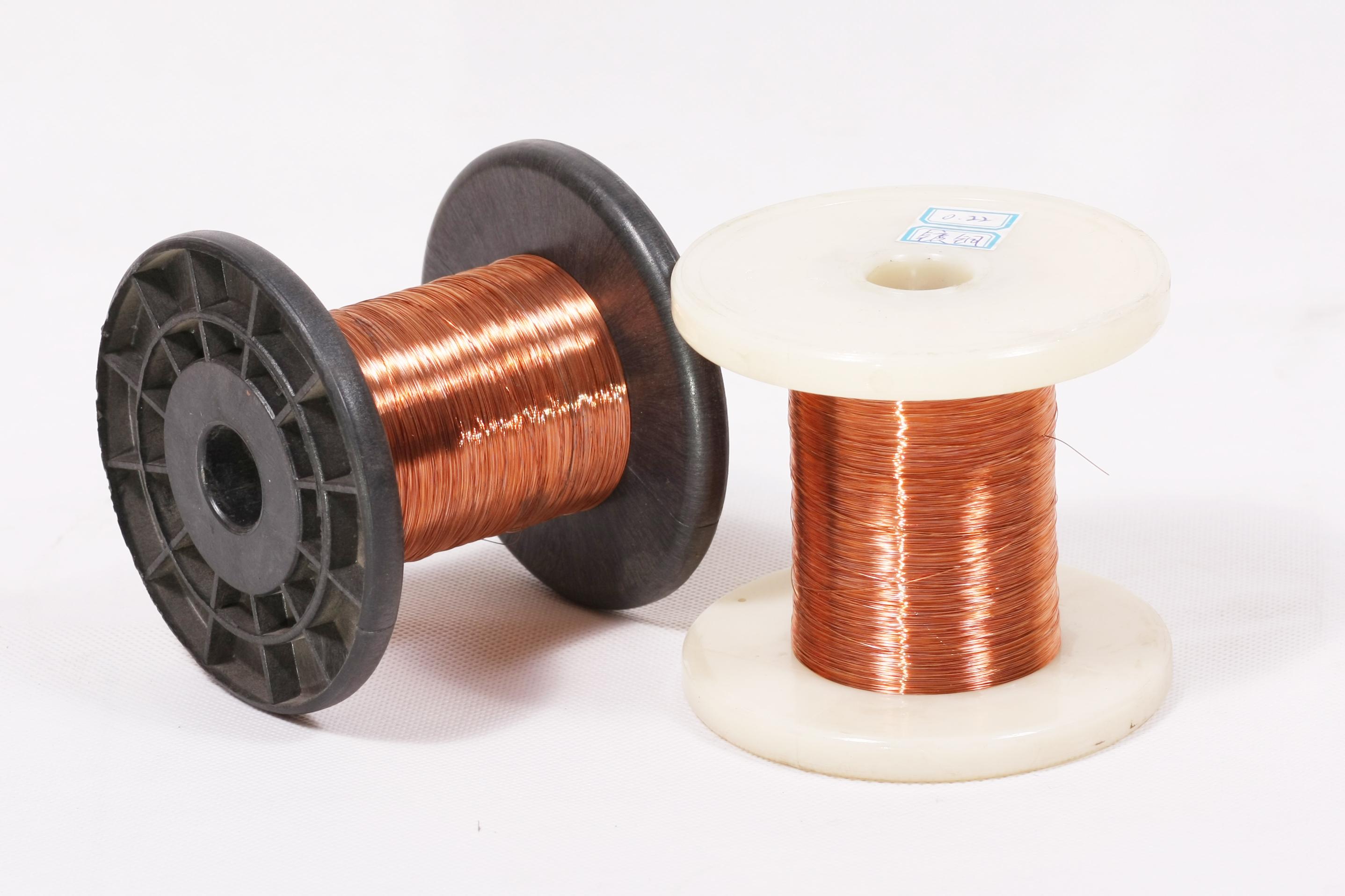 镀铜扁丝,用来做镀铜网球 0.22mm镀铜扁丝