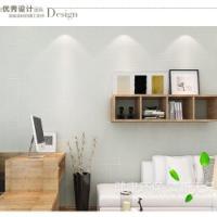 无纺布墙纸现代简约素色浮雕立体环