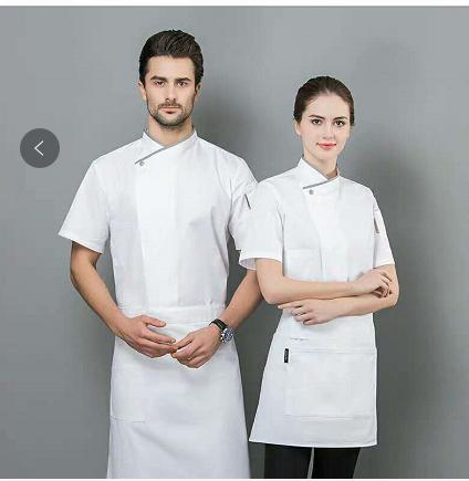 2019厨师男女短袖工作服厂家定制批发