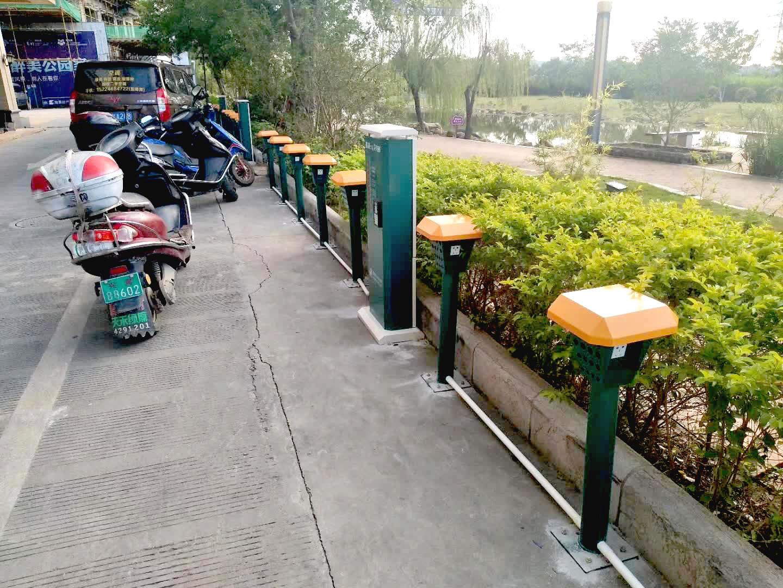 厂家直销 济宁电动车立式防雨十路智能充电桩 家用电动三轮车 代理加盟
