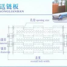 供应冲孔链板不锈钢链板节距38.1链板 输送机链板清洗机网带批发
