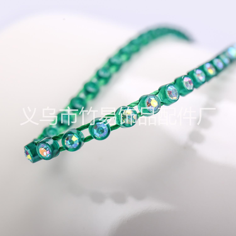 定制批发2.7mm单条线钻饰品配件注塑五彩B钻6号塑料单排条钻辅料
