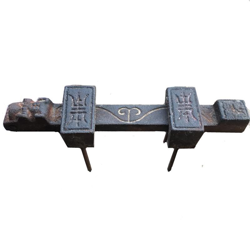 中式仿古大门木门纯实心铸铁门插门栓明装五金门扣复古门插销