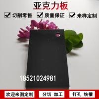 上海楠飞亚克力黑灰色不透明塑料板材有机玻璃整板加工定制雕刻零切1-20mm  亚克力黑灰色不透明塑料板材
