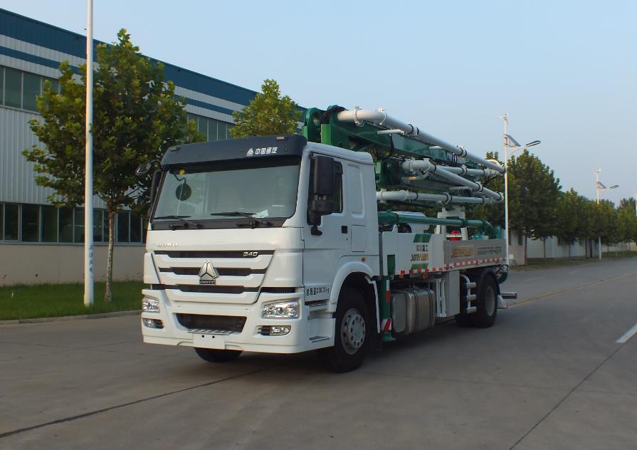 27米泵车  森源重汽底盘27米泵车销售电话