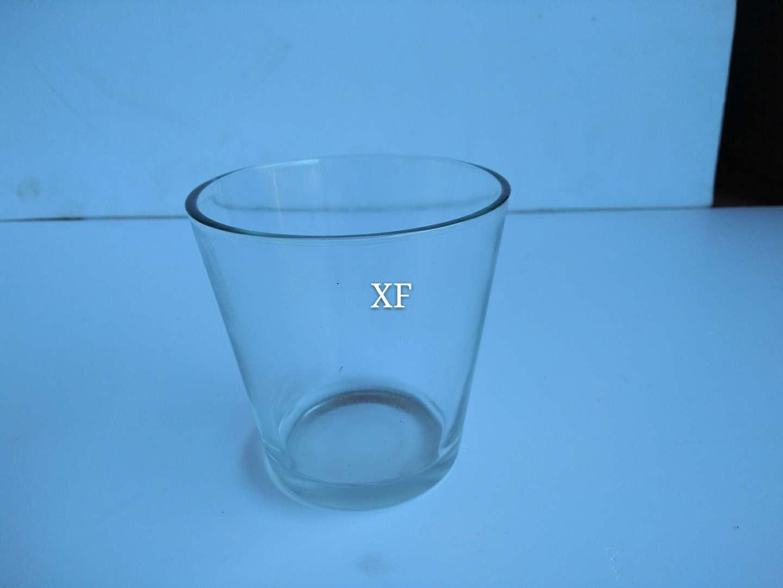 厂家直销斜身玻璃杯透明圆形玻璃杯供应