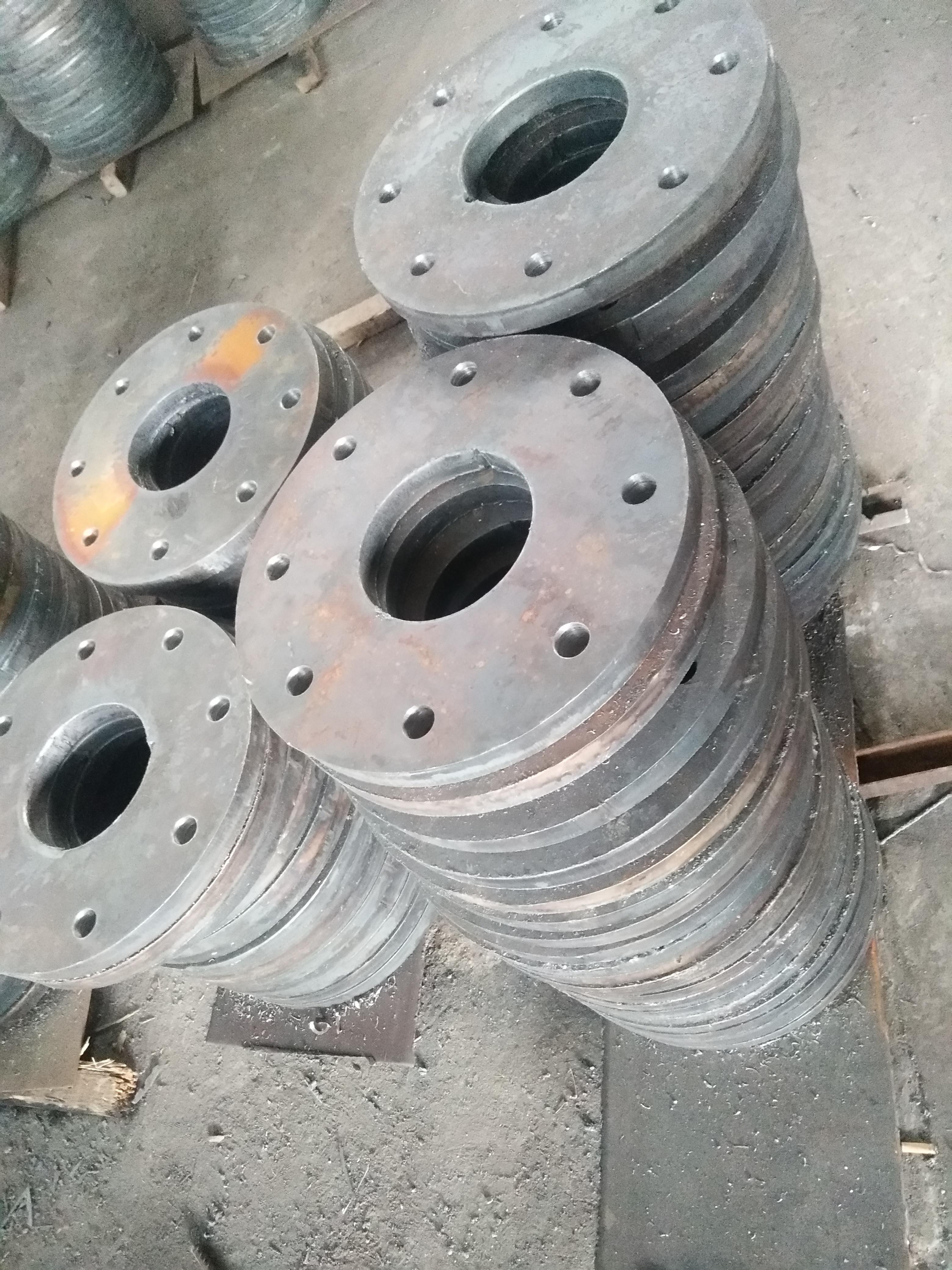 厂家生产 公路工程配件 预埋底座 连接法兰 加筋焊接 连接包箍等定制配件