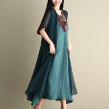 A9连衣裙批发,原创品牌女装系列麻棉连衣裙批发
