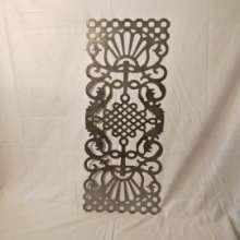 铁艺冲压花片9821立体 。78.5*32.5中国结造型,铁艺大门,围栏,装修装饰