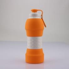 硅胶折叠户外水瓶便携软水瓶随手杯旅行杯子 学生大容量运动水壶批发