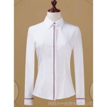 西安女装 女款衬衫 短袖 工装批发 混纺面料韩版 开衫 白色 绿色 灰色 黑色 粉色批发