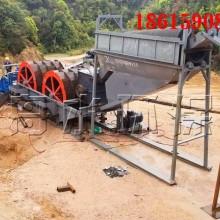 筛沙水洗设备 移动筛洗沙机 风化砂破碎洗沙生产线图片