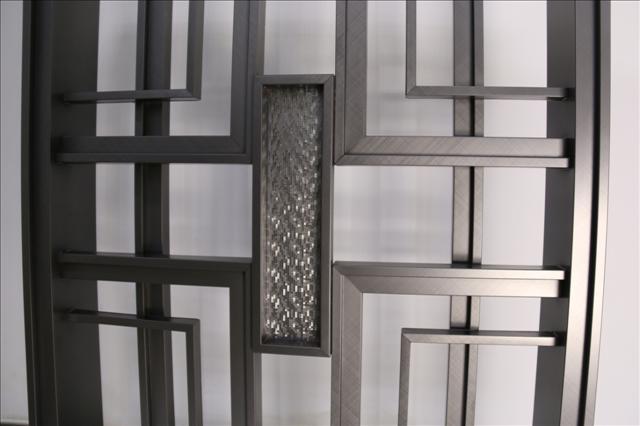 玫瑰金不锈钢屏风 镂空花格金属屏风 家居装饰不锈钢屏风