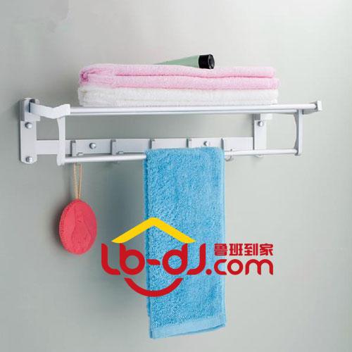 太空铝浴巾架安装—鲁班到家