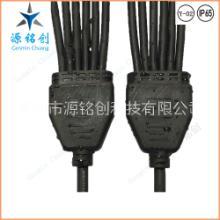 Y型一拖六防水连接器/IP66防水接头/LED路灯洗墙灯一拖多尼龙插头 Y-01一拖六两芯