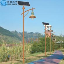 简约LED户外防水3米4米太阳能欧式复古庭院灯公园景观灯路灯 小区太阳能庭院灯 LED户外防水路灯
