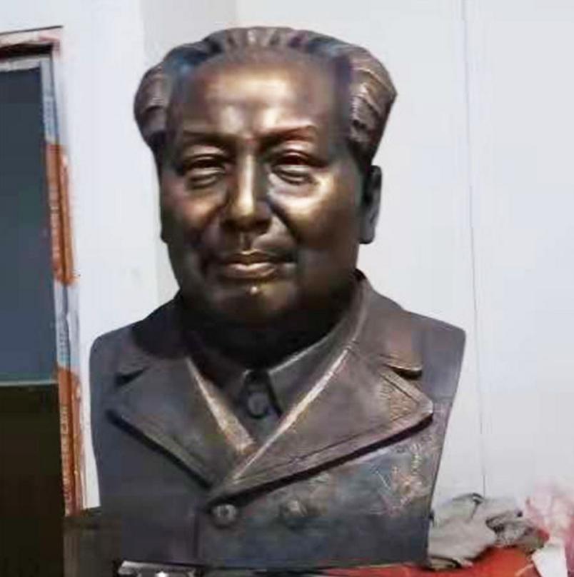 厂家直销 玻璃钢仿铜人物景观装饰雕塑 伟人像十大元帅胸象定制