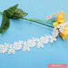 棉布雕孔网布刺绣水溶牛奶丝花边   时尚服饰刺绣花边面料