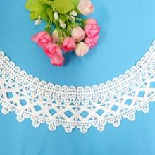 时尚服装朵花花片 水溶牛奶丝棉线领花朵花花片批发