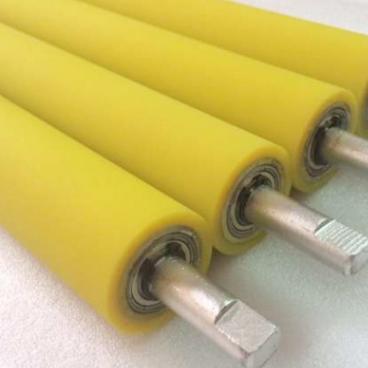定做聚氨酯pu胶辊 滚筒包胶橡胶弯辊热压辊 不锈钢抛光机胶轮