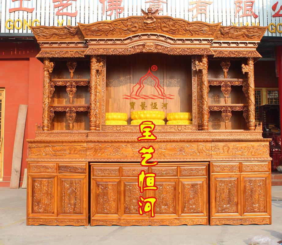 101仿古藏式佛龛密宗佛堂供桌三层佛台金刚佛台