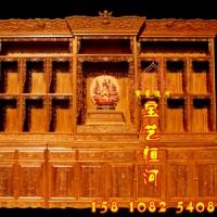宝艺恒河2米长香樟木密宗家用简藏式佛龛佛台 2米长藏式佛龛