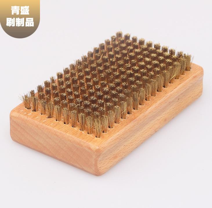 厂家供应木板铜丝刷 网纹辊清洗不锈钢丝刷 木柄纹理绒刷