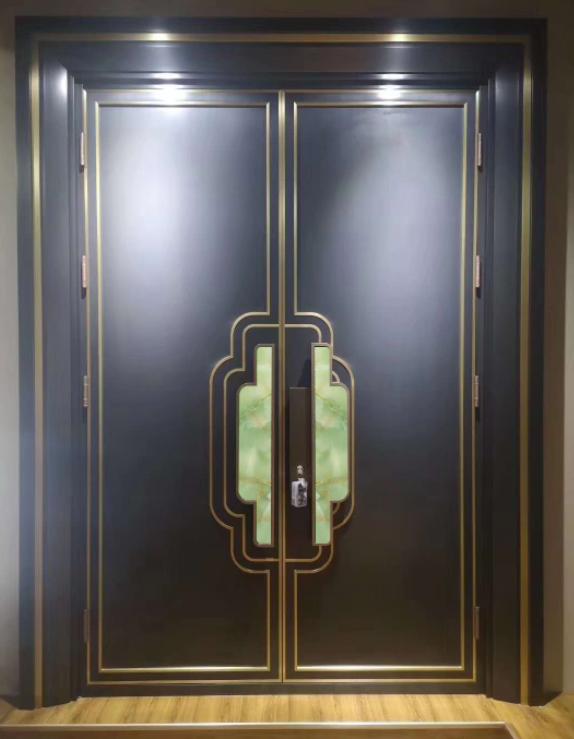 佛山新中式铜门订做厂家-聚福龙铜门