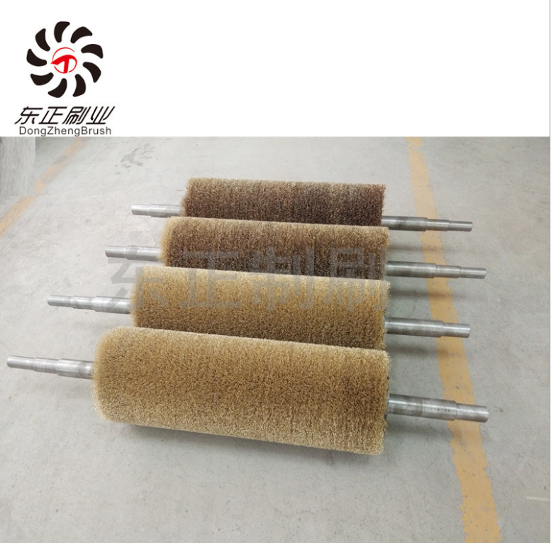 厂家直销机械抛光工业刷辊钢丝刷辊抛光拉丝毛刷辊专业定制