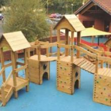 儿童户外木质攀爬架 幼儿园室外大型攀爬墙 黄花梨实木玩具