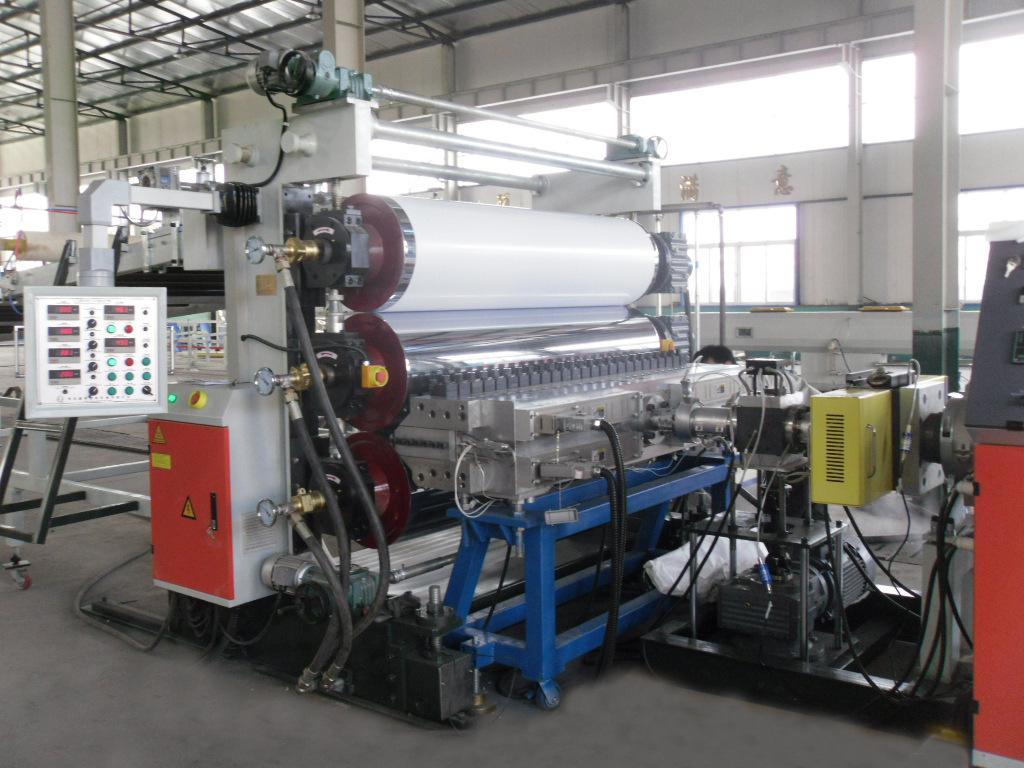 厂家直销PVC片材生挤出设备,透明片挤出设备,张家港贝发机械