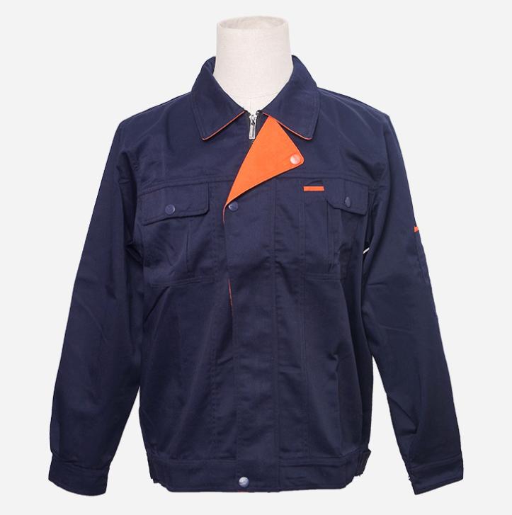 工厂大量批发定制工作服男装工装上衣长袖工作工厂车间制服深蓝色
